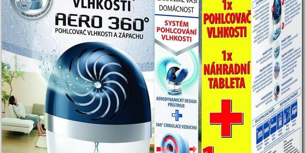 Ceresit Stop vlhkosti Aero 360 pohlcovač vlhkosti komplet modrý + náhradní tablety 2 x 450 g