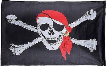 Pirátská vlajka - 150 x 90 cm - skladovka
