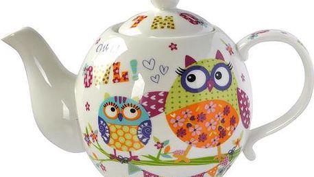 Roztomilá keramická konvička na čaj Sovy!