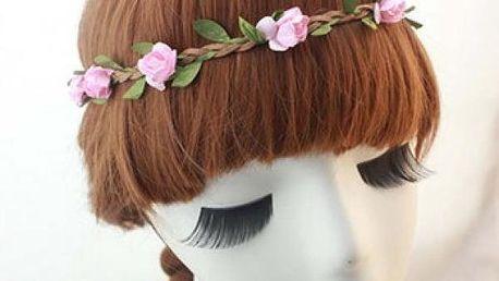 Pletená čelenka do vlasů s kytičkami - nechte rozkvést i svůj účes!