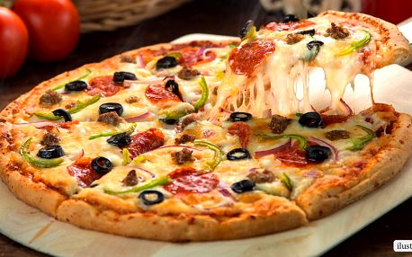 Bezmála půlmetrová pizza – výběr ze 33 druhů