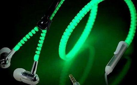 Zipová sluchátka svítící