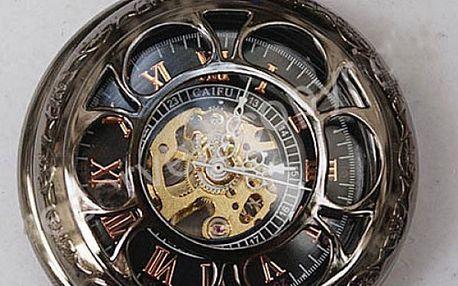Pánské kapesní hodinky steampunk - dodání do 2 dnů