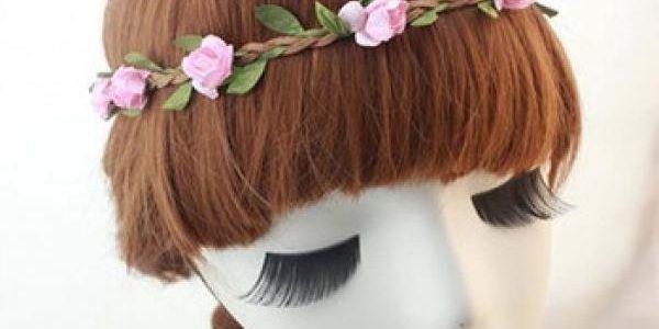 72581d8bb0f Pletená čelenka do vlasů s kytičkami - nechte rozkvést i svůj účes!