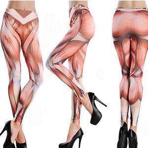 Legíny s motivem lidských svalů - skladovka - poštovné zdarma