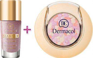 Dermacol Glamour Sparkling dárková kazeta pro ženy lak na nehty 9 ml + oční stíny 1,8 g 3
