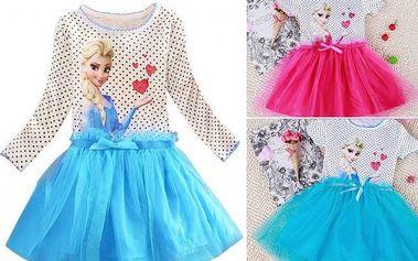 Dětské šaty s puntíky Elsa