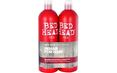 Tigi Bed Head Resurrection Duo Kit dárková sada W - 750ml Bed Head Resurrection Shampoo + 750ml Bed Head Resurrection Conditioner Pro velmi oslabené vlasy
