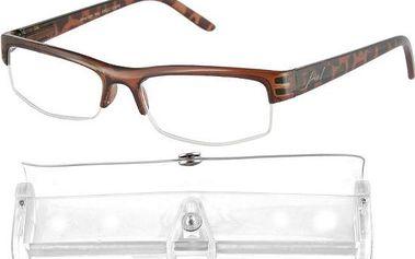 Brýle čtecí American Way v etui +1.00 hnědé