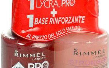Rimmel London Lycra Pro Nail Polish + Stronger Base Coat 24ml Lak na nehty W - Odstín 359 Little Brown Dress