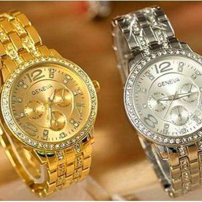 Dámské hodinky Geneva s krystaly Elements!