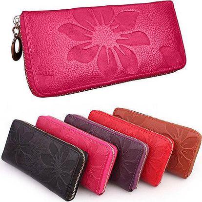 Elegantní dámská peněženka Flower z pravé kůže!