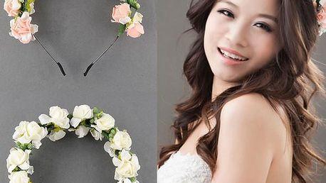 Romantická čelenka s květinami Flora