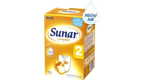 SUNAR Complex 2 (600g) NOVÝ – kojenecké mléko