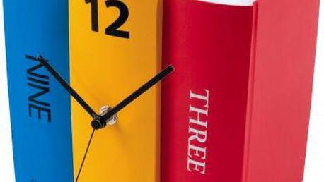 Nástěnné hodiny Book- Barevné