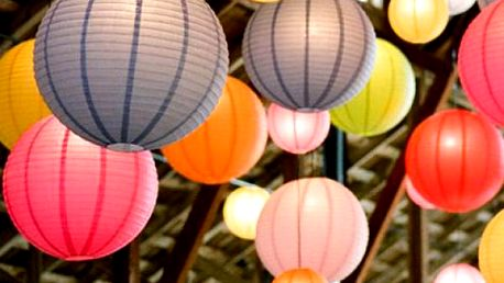 Dekorativní závěsné lampiony - set 3 ks pro romantickou atmosféru!
