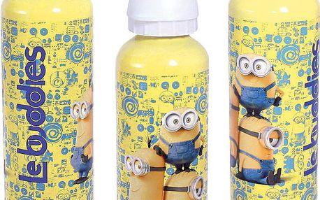 Disney ALU láhev Mimoni, 500 ml, Žlutá