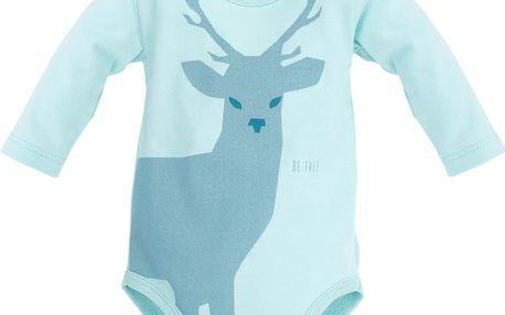 Pinokio Chlapecké body s jelenem - světle modré, 62