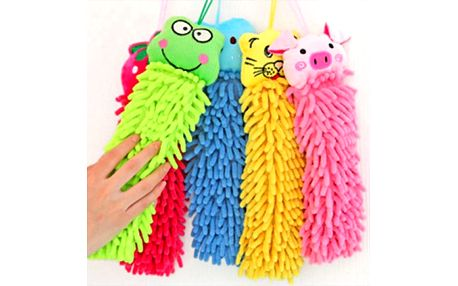 Barevný ručník zvířátko ze savého mikrovlákna rozveselí vaši koupelnu!