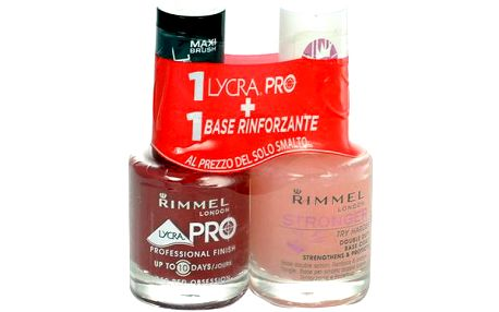 Rimmel London Lycra Pro Nail Polish + Stronger Base Coat 24ml Lak na nehty W - Odstín 359 Little Brown Dress