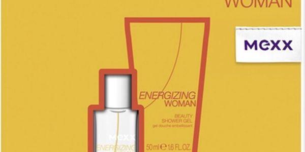 Mexx Energizing Woman toaletní voda 15 ml + sprchový gel 50 ml, dárková sada