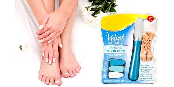 Elektrický pilník na nehty Velvet Smooth