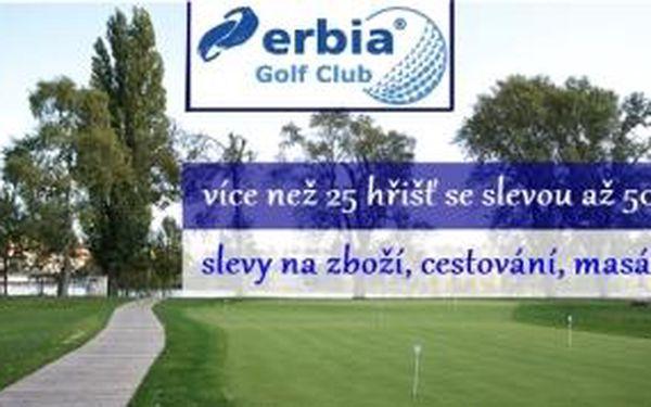 Staňte se členy prestižního Erbia Golf Clubu a čerpejte slevy až 50% na více než 25 hřištích, zvýhodněné podmínky na DR na Císařské louce, slevy až 30% u dalších partnerů klubu + poukaz 150 Kč na nákup golfového zboží.
