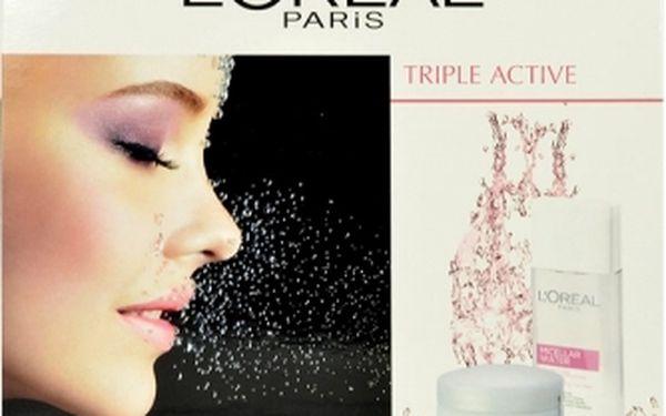 L´Oréal Paris Triple Active dárková kazeta pro ženy denní pleťový krém 50 ml + micelární voda Micellar Water 3in1 Sensitive Skin 200 ml