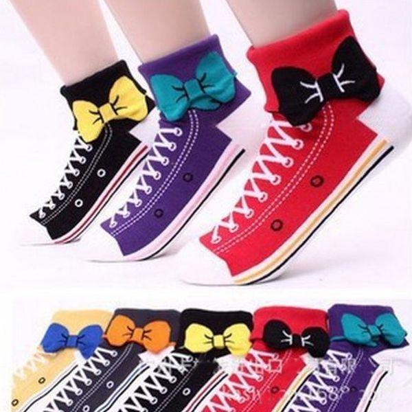 Roztomilé veselé teniskové ponožky!