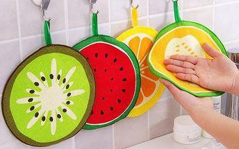 Malá kuchyňská utěrka v podobě ovoce