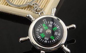 Klíčenka kormidla s kompasem
