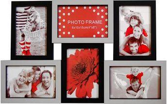 Velký multi-fotorámeček na 6 fotografií