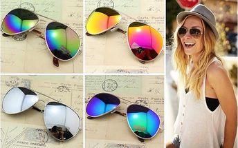 Sluneční brýle pilotky Aviator!