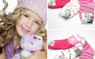 Dívčí termo ponožky 3 páry!