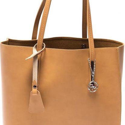 Kožená kabelka Isabella Rhea 3020 Cognac - doprava zdarma!