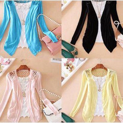 Romantický krajkový svetřík s krajkovými zády!