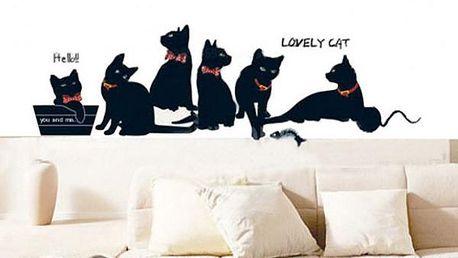 Samolepka na zeď Kočičí tlupa!