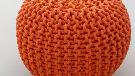 Sedací puf Cool Orange - doprava zdarma!