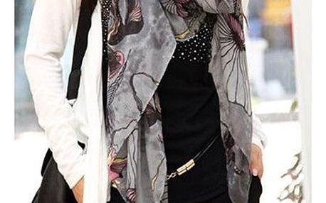 Dámský šátek se zajímavými motivy - dodání do 2 dnů