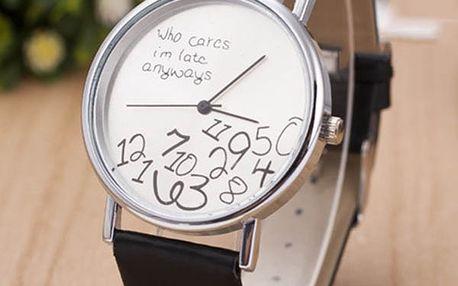 Unisex hodinky s pomateným ciferníkem