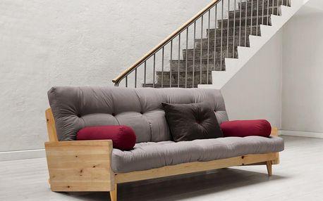 Rozkládací sofa Indie, gris/clear - doprava zdarma!