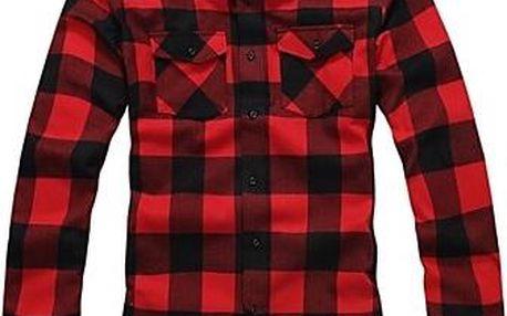 Kostkovaná košile - modrá, červená