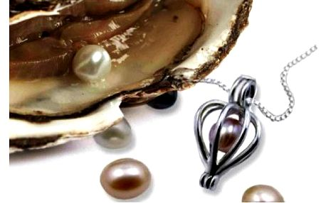 Perla přání v perlorodce s různými přívěsky... Darujte krásné překvapení!
