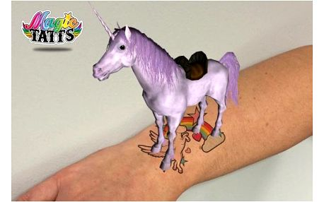 Animované tetování pro kluky i holky Magic Tatts