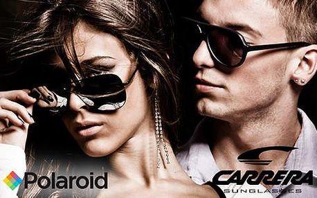 Značkové brýle Carrera nebo Polaroid s pouzdrem