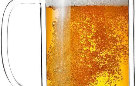 Dvojitá sklenice na pivo Amo, 500 ml
