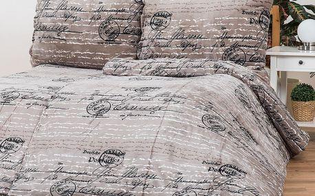 Povlečení Mikroplyš Postcard, 140 x 200 cm, 70 x 90 cm