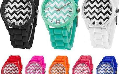 Stylové silikonové hodinky v 8 barvách