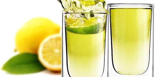 Sada 2 dvojitých skleniček Amo Shot, 50 ml