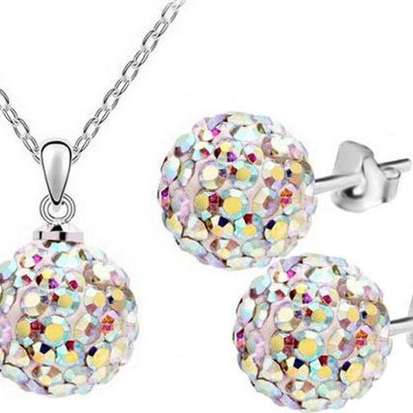 Sada náhrdelník a náušnice s kuličkami - souprava bižuterie - poštovné zdarma
